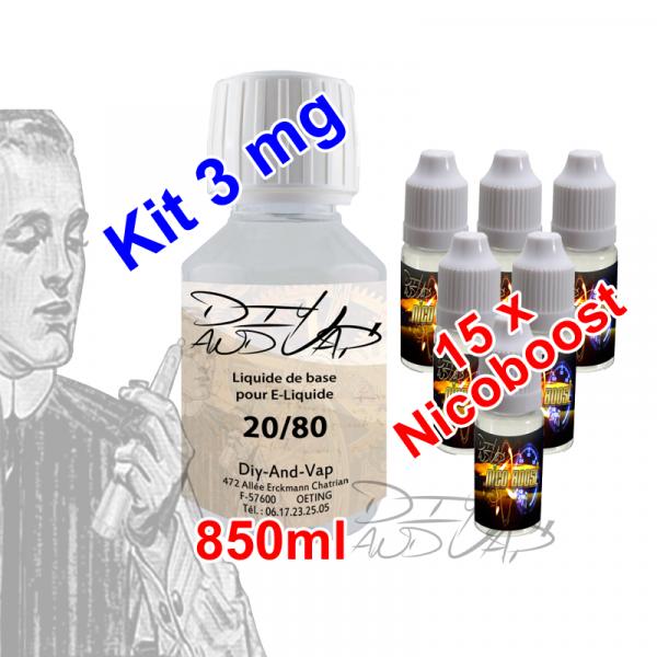 Kit 1 Litre base nicotinée sans calcul