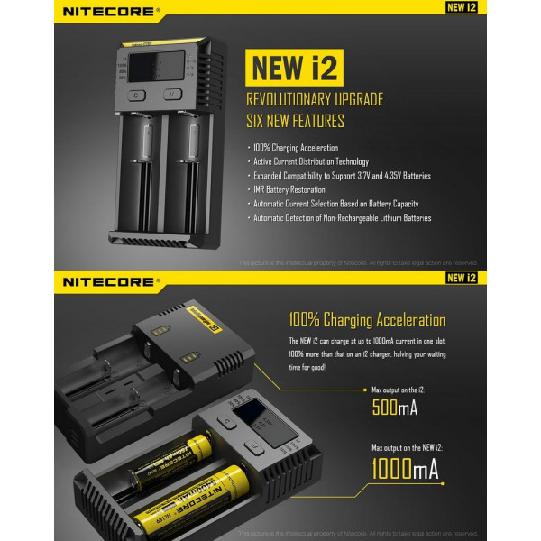 Chargeur New I2 Nitecore