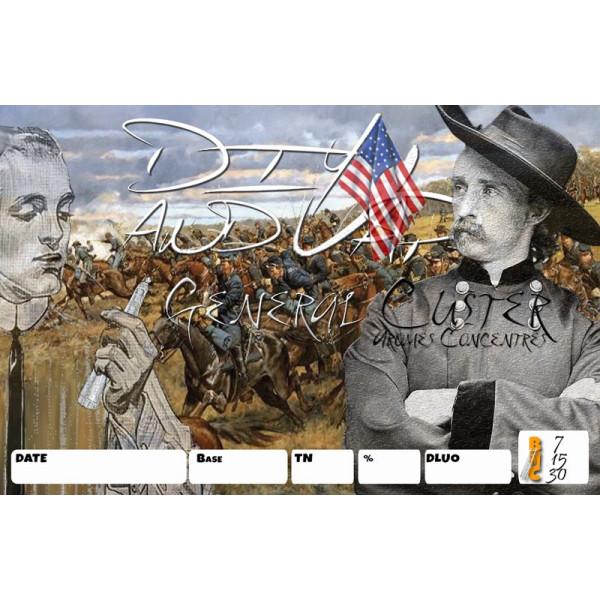 3 étiquettes Général Custer