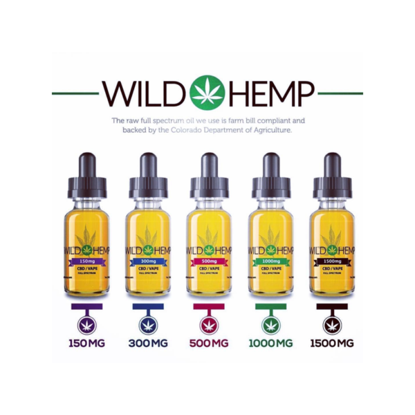Wild Hemp Broad Spectrum 150 300 500 1000 1500mg