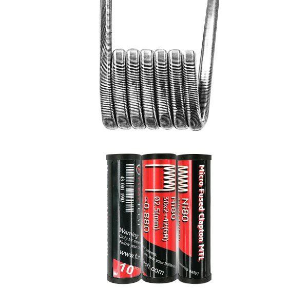 Micro Fused Clapton MTL Ni80 30*2+42GA 0.88Ω (10pcs) - Fumytech