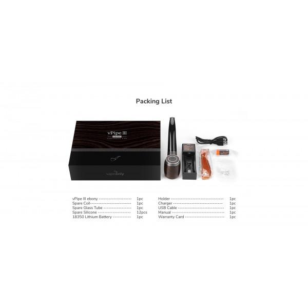 Pack VPipe III e-Pipe 18350 1.2ml 17W 1300mAh - Vapeonly