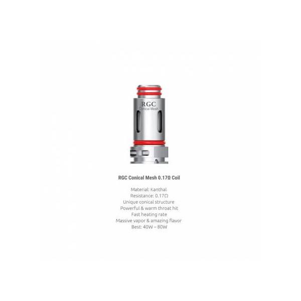 Résistances Smoktech - RPM80 RGC Conical Mesh 0.17 ohm