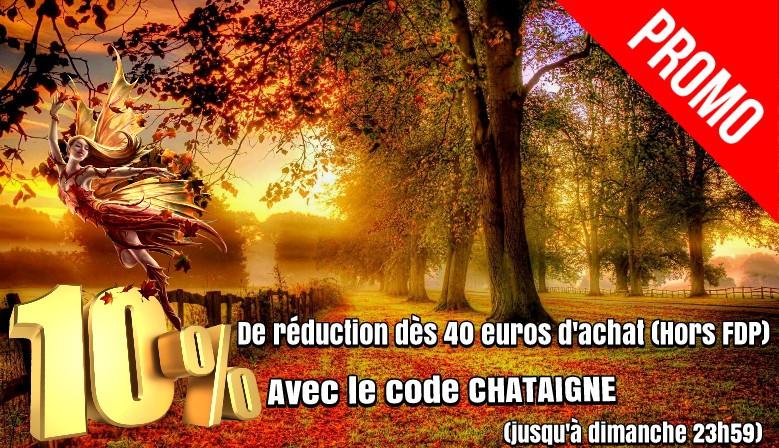 10% de réduction avec le code CHATAIGNE